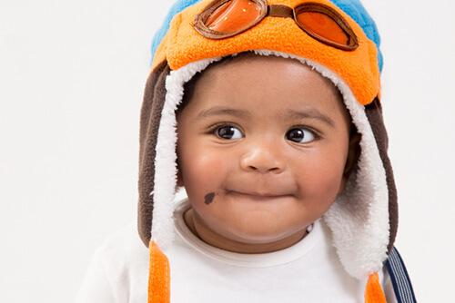 赤ちゃんの青あざ